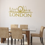 London Skyline Wall Sticker - Gold