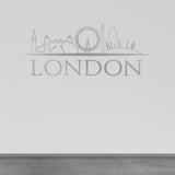 London Skyline Wall Sticker - Silver