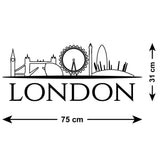 London Skyline Wall Sticker - Size Guide