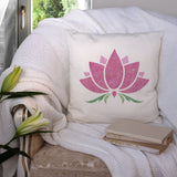 CraftStar Lotus Flower Stencil on fabric