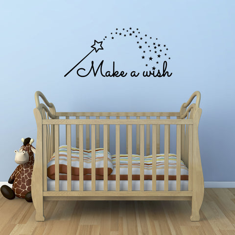 Make A Wish Wall Sticker - Black