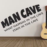 Man Cave Wall Sticker - Black