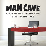 Man Cave Wall Sticker in Study
