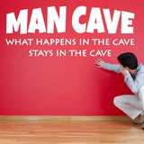 Man Cave Wall Sticker - White