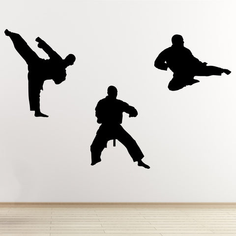 Martial Arts Wall Sticker Pack - Black