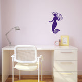 Mermaid Wall Sticker - Purple - Medium