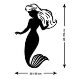 Mermaid Wall Sticker - Size Guide