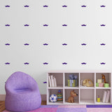 Mini Moustache Wall Stickers - Purple