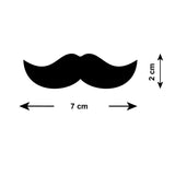 Mini Moustache Wall Stickers - Size Guide