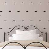 Mini Moustache Wall Stickers - Black