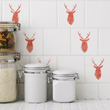 CraftStar Mini Stag Head Stencil on Tiles