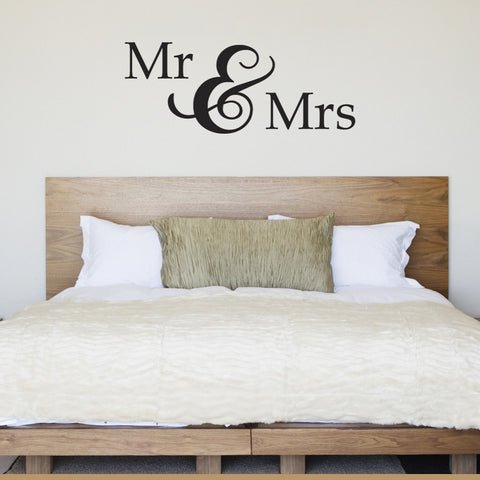 Mr & Mrs Wall Sticker - Black
