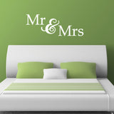 Mr & Mrs Wall Sticker - White