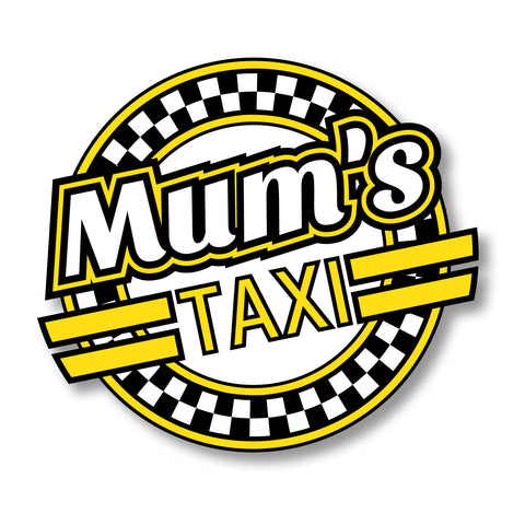 Mum's Taxi Car Sticker