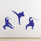 Ninja Martial Arts Wall Stickers - Dark Blue