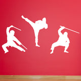 Ninja Martial Arts Wall Stickers - White