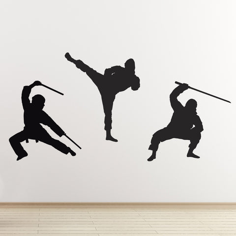 Ninja Martial Arts Wall Stickers - Black