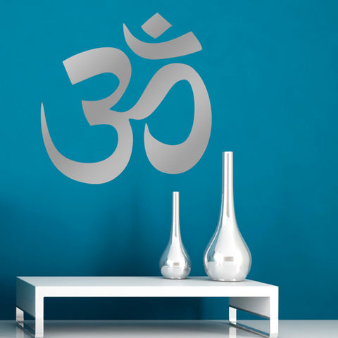 ZygoMax Om Wall Sticker - Silver
