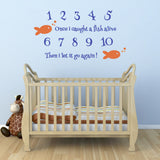 Once I Caught A Fish Alive Nursery Wall Sticker