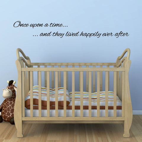 Once Upon A Time They Lived Happily Ever After Wall Sticker - Black