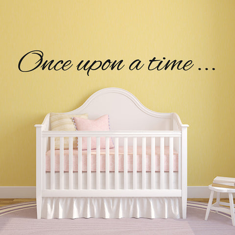 Once Upon A Time Nursery Wall Sticker - Black