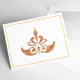 CraftStar Ornate Fleur De Lys Stencil on Card