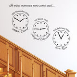 Our Family Wall Clock Stickers - Family Celebrations - 3 Clocks