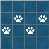 Paw Print Tile Stickers - White