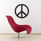 Peace Symbol Wall Sticker - Black
