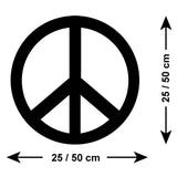 Peace Symbol Wall Sticker - Size Guide