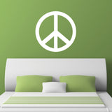 Peace Symbol Wall Sticker - White