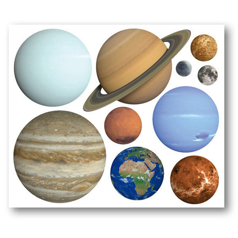 Planet Wall Stickers Set Of 10 Planets Solar System