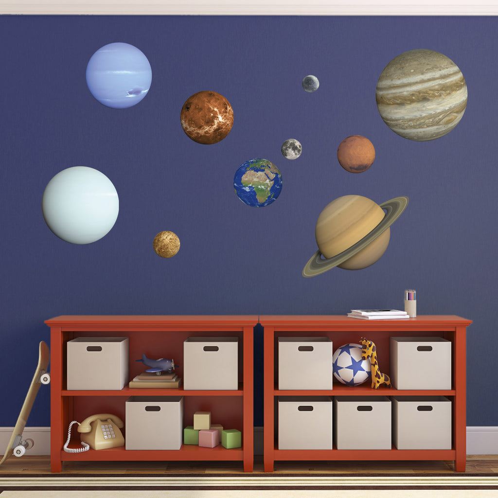 Planet Wall Stickers   Set Of 10 Planets / Solar System Decals Part 44