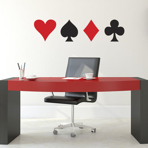 Playing Card Symbol Wall Stickers - Office