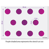 Small Polka Dot Seamless Pattern Stencil Size Guide