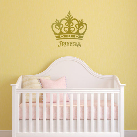 Princess Crown Wall Sticker - Girl\'s Bedroom Decal – ZygoMax