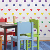 CraftStar Seamless Pattern Heart Stencil in Rainbow Colours