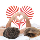 CraftStar Sunburst Heart Pattern Stencil in Couples Bedroom