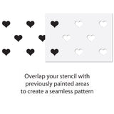 CraftStar Seamless Pattern Heart Stencil Guide