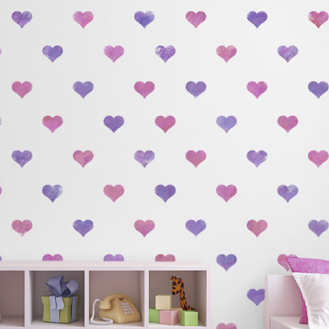 CraftStar Seamless Pattern Heart Stencil on Wall