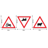Road Sign Wall Stickers - Farmyard Signs - Sizes