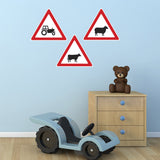Road Sign Wall Stickers - Farmyard Signs