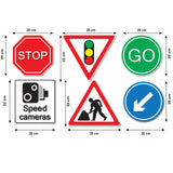 Road Sign Wall Stickers - Roadworks Signs - Sizes