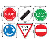 Road Sign Wall Stickers - Set of 6 - Sizes