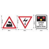 Road Sign Wall Stickers - Train Level Crossing - Sizes