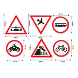 Road Sign Wall Stickers - Vehicle Warning Signs