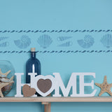 CraftStar Shell Border Stencil in blues