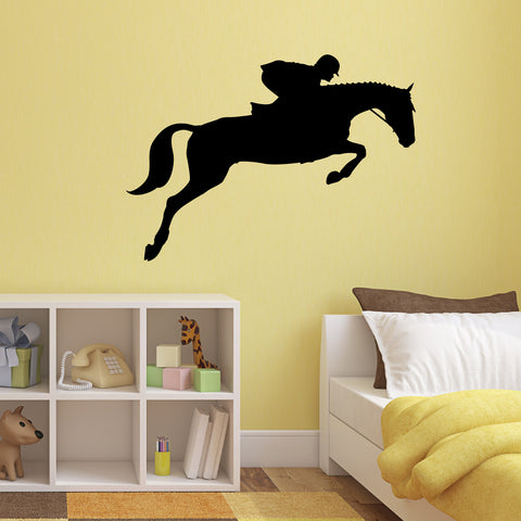 Show Jumping Horse Wall Sticker - Black