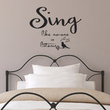 Sing Like No-One Is Listening Wall Sticker - Black