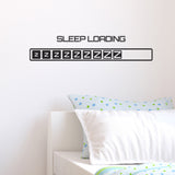 Sleep Loading Wall Sticker - Black